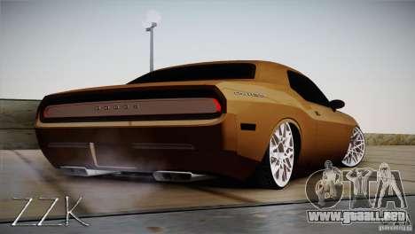 Dodge Challenger Socado Com Rotiform FIXA para la visión correcta GTA San Andreas