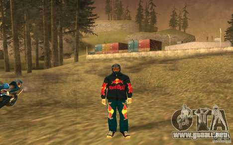 Red Bull Clothes v1.0 para GTA San Andreas