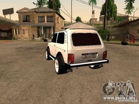 Armenian NIVA DORJAR 4 x 4 para GTA San Andreas vista posterior izquierda