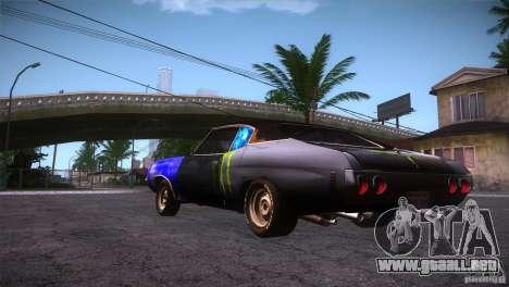 Chevrolet Chevelle SS DC para GTA San Andreas vista posterior izquierda