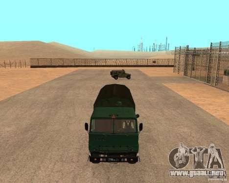 KAMAZ 4310 para la visión correcta GTA San Andreas