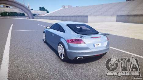 Audi TT RS 2010 para GTA 4 Vista posterior izquierda