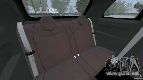 Fiat 500 Abarth para GTA 4 vista lateral