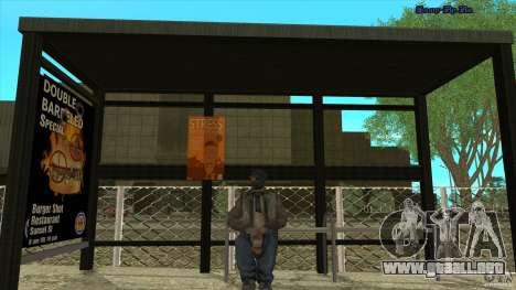 Paradas de autobús en HD para GTA San Andreas tercera pantalla