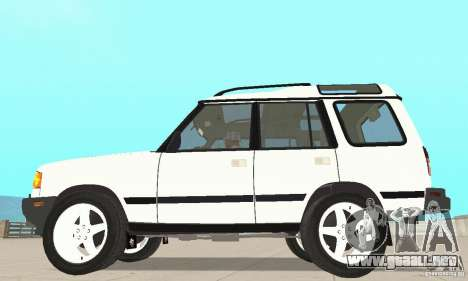 Land Rover Discovery 2 para GTA San Andreas vista posterior izquierda