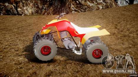 Yamaha Y660R Quadbike [Beta] para GTA 4 left