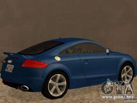 Audi TT RS para GTA San Andreas vista posterior izquierda