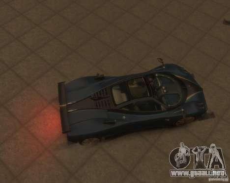 Pagani Zonda Tricolore para GTA 4 vista hacia atrás