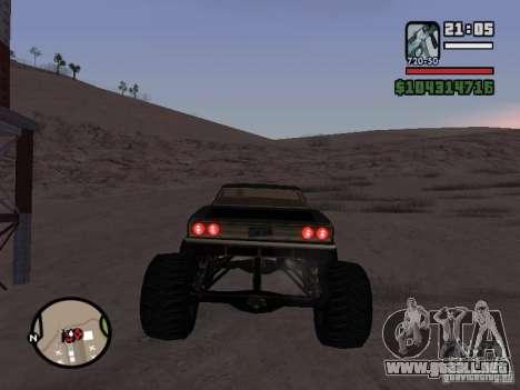 Monster Tampa para GTA San Andreas vista posterior izquierda
