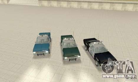 Plymouth Duster 340 Police para visión interna GTA San Andreas