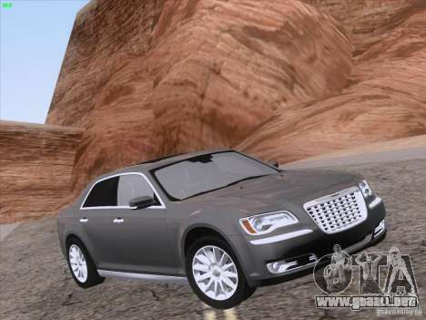 Chrysler 300 Limited 2013 para la vista superior GTA San Andreas