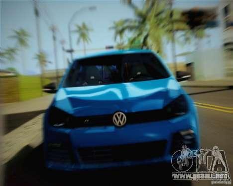 Volkswagen Golf R 2010 para GTA San Andreas vista posterior izquierda
