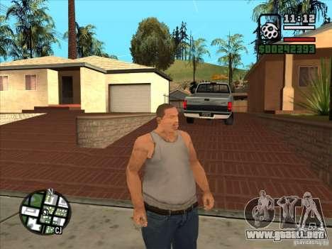 Cj blanco para GTA San Andreas sucesivamente de pantalla