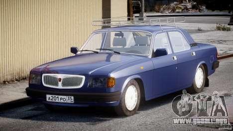 GAZ 3110 Volga para GTA 4 vista hacia atrás