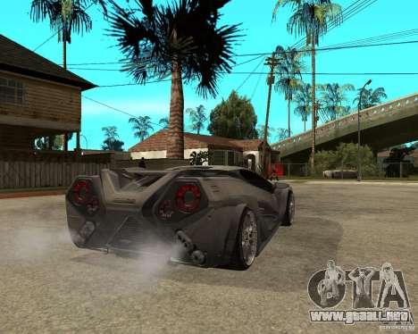 Nemixis para GTA San Andreas vista posterior izquierda