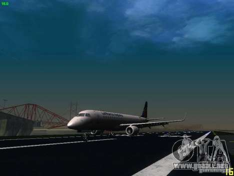Embraer ERJ 190 Lufthansa Regional para GTA San Andreas left