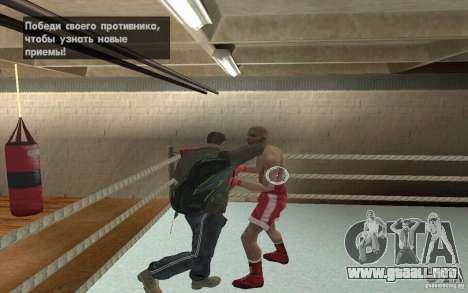 El sistema de combate de GTA IV V 3.0 para GTA San Andreas segunda pantalla