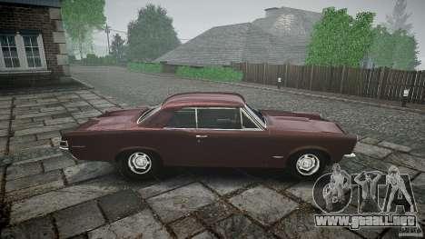 Pontiac GTO 1965 para GTA 4 interior