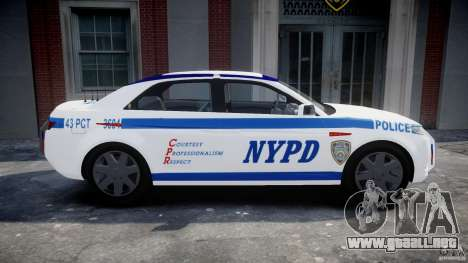 Carbon Motors E7 Concept Interceptor NYPD [ELS] para GTA 4 left