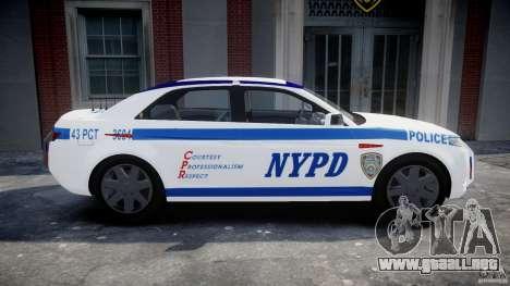 Carbon Motors E7 Concept Interceptor NYPD [ELS] para GTA 4 left