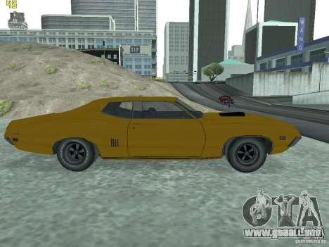 Ford Torino 70 para GTA San Andreas vista posterior izquierda