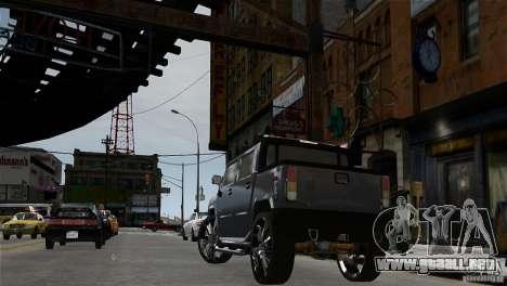 Hummer H2 SUT para GTA 4 Vista posterior izquierda
