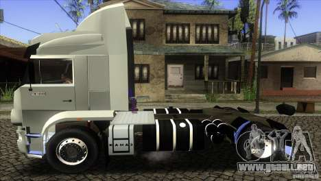 KAMAZ 5460 3420 Euro Turbo para GTA San Andreas left