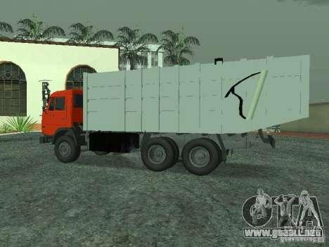 Camión de basura 53215 KAMAZ para GTA San Andreas left
