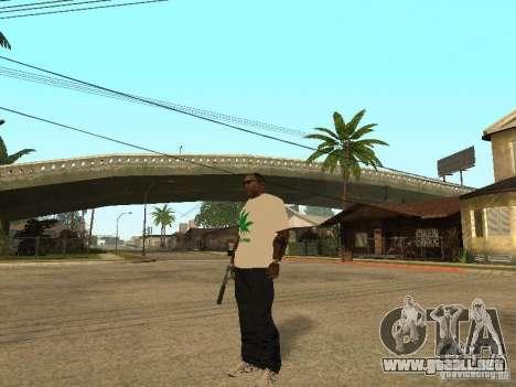 Camiseta con hierba para GTA San Andreas segunda pantalla