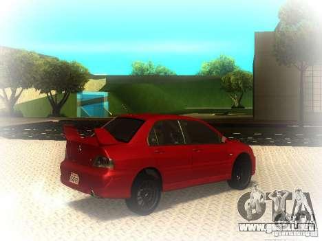 Mitsubishi Lancer Evolution IX MR 2006 para la visión correcta GTA San Andreas
