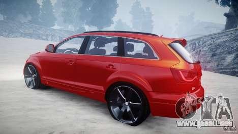 Audi Q7 LED Edit 2009 para GTA 4 vista lateral