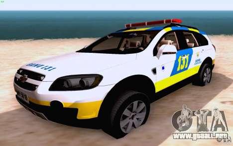 Chevrolet Captiva Police para vista lateral GTA San Andreas