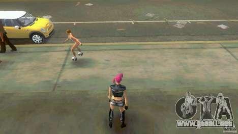 Girl Player mit 11skins para GTA Vice City sucesivamente de pantalla