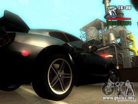 BMW Z4 M 07 para la visión correcta GTA San Andreas