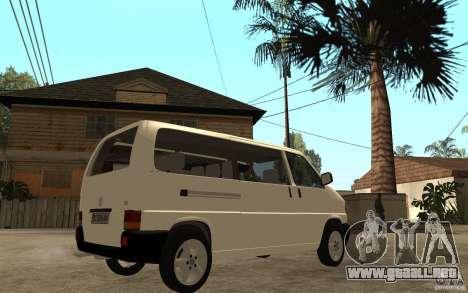 Volkswagen Transporter T4 para la visión correcta GTA San Andreas