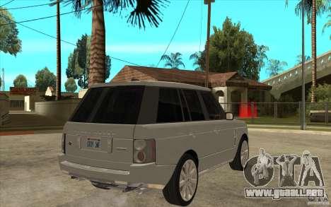 Land Rover Range Rover Supercharged 2009 para la visión correcta GTA San Andreas