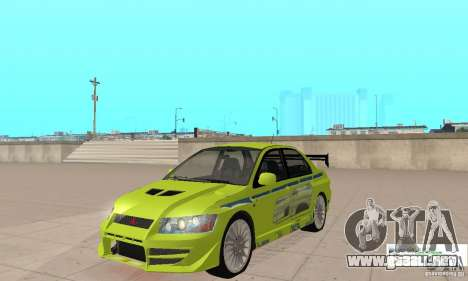 Mitsubishi Lancer Evo The Fast and the Furious 2 para GTA San Andreas