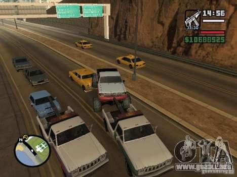 Vehículos con remolques para GTA San Andreas octavo de pantalla
