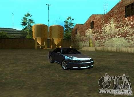 Nissan Skyline GTR-34 para GTA San Andreas left