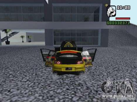 Mazda RX-8 Rockstar para GTA San Andreas vista posterior izquierda