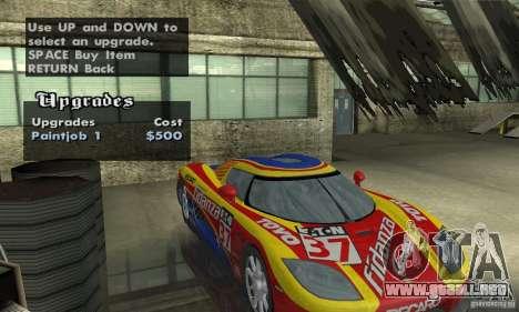 Koenigsegg CCX (v1.0.0) para GTA San Andreas vista hacia atrás