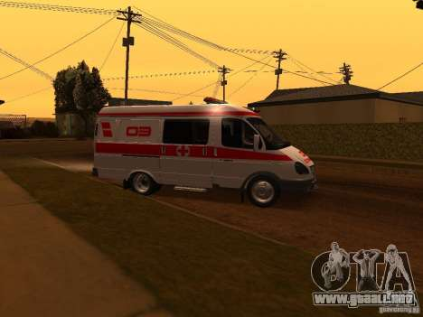 Ambulancia gacela para GTA San Andreas left