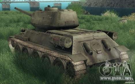 T-34-85 desde el juego COD World at War para visión interna GTA San Andreas
