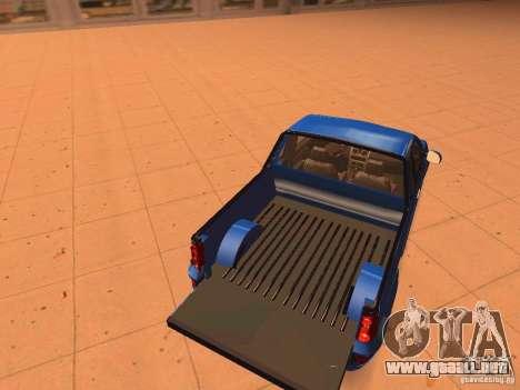 Nissan NP200 para visión interna GTA San Andreas