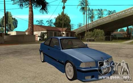 BMW M3 E36 1997 para GTA San Andreas vista hacia atrás