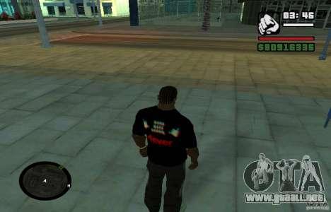 Camiseta baja dura. para GTA San Andreas segunda pantalla