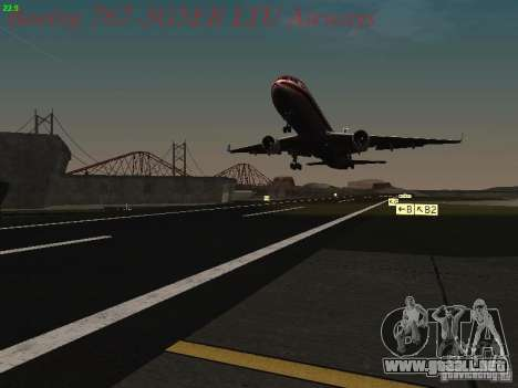 Boeing 767-3G5ER LTU Airways para vista inferior GTA San Andreas