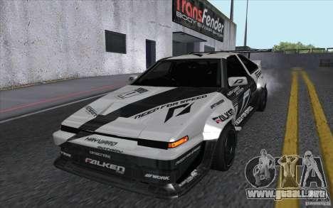 Toyota Corolla AE86 Shift 2 para GTA San Andreas