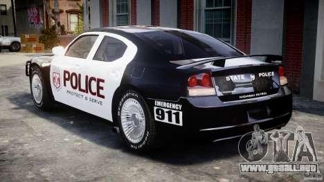 Dodge Charger SRT8 Police Cruiser para GTA 4 visión correcta