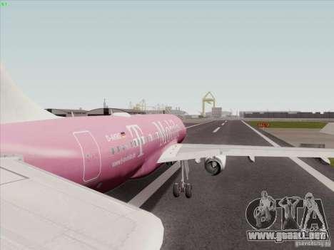 Airbus A319 Spirit of T-Mobile para la visión correcta GTA San Andreas